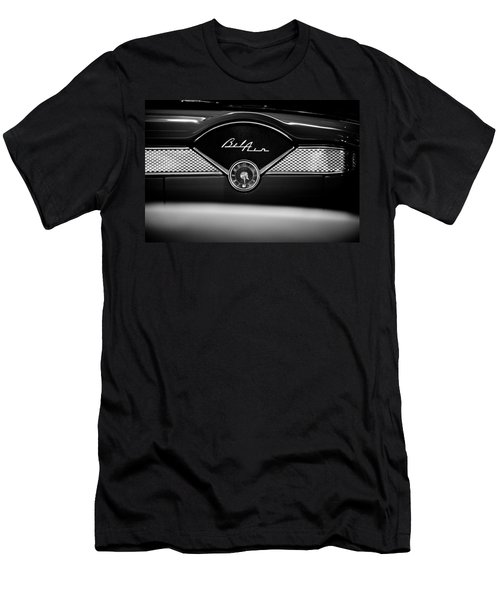 1955 Chevy Bel Air Glow Compartment In Black And White Men's T-Shirt (Athletic Fit)