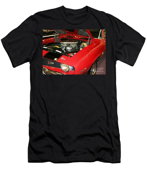 Men's T-Shirt (Slim Fit) featuring the photograph 1969 Z-28 Crossram With 9737 Copo Option by John Black