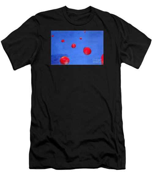 Orbs In Space 1 -- Crossing Paths Men's T-Shirt (Athletic Fit)