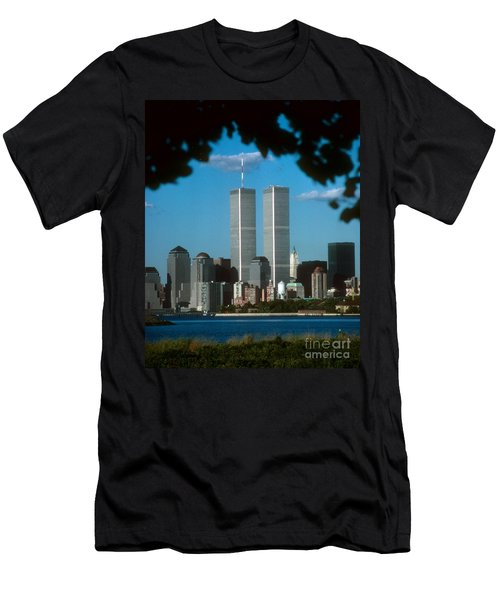 View From Liberty State Park Men's T-Shirt (Athletic Fit)