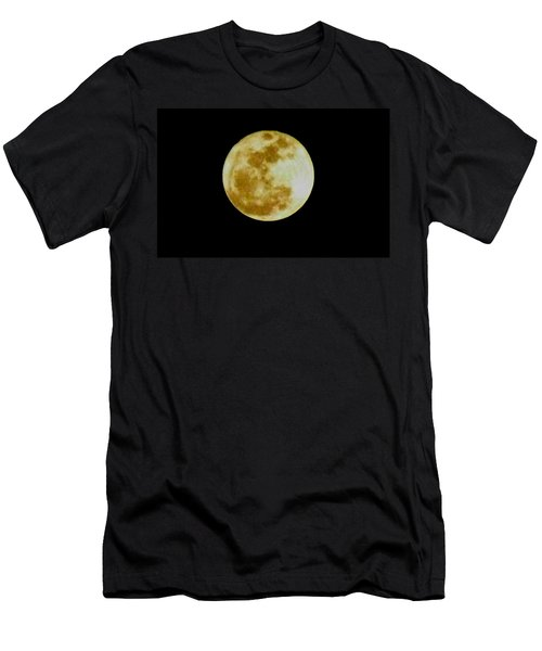 Men's T-Shirt (Slim Fit) featuring the photograph 2011 Full Moon by Maria Urso