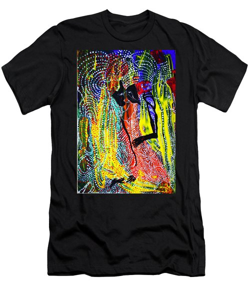 Men's T-Shirt (Slim Fit) featuring the painting Jesus And Mary by Gloria Ssali