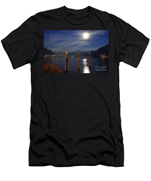 Moon Light Over An Alpine Lake Men's T-Shirt (Athletic Fit)
