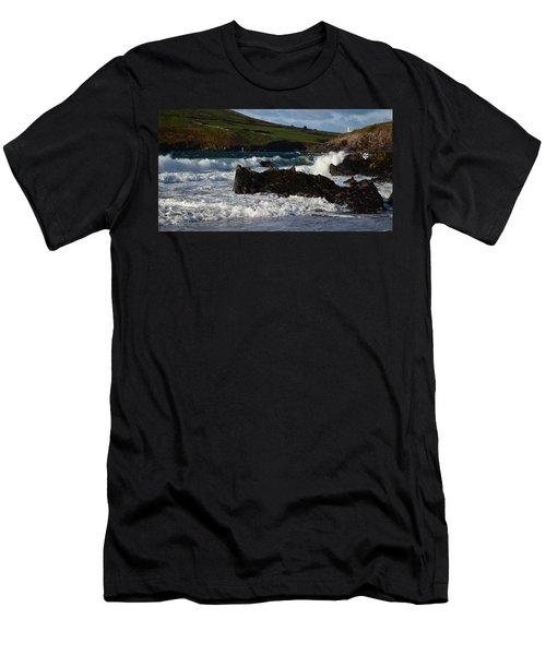 Men's T-Shirt (Slim Fit) featuring the photograph Beenbane Beach by Barbara Walsh