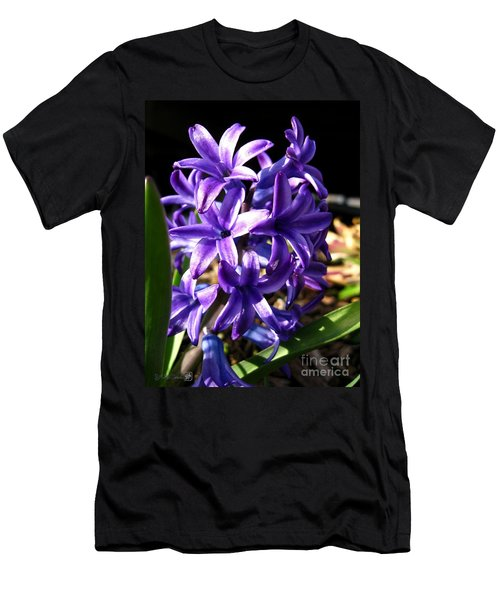 Men's T-Shirt (Slim Fit) featuring the photograph Hyacinth Named Peter Stuyvesant by J McCombie