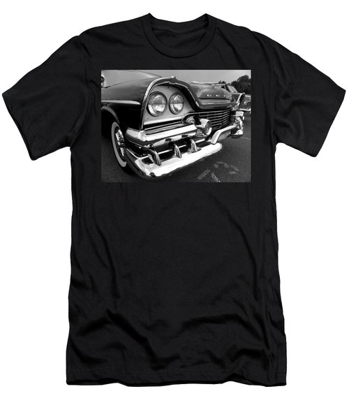58 Plymouth Fury Black And White Men's T-Shirt (Athletic Fit)