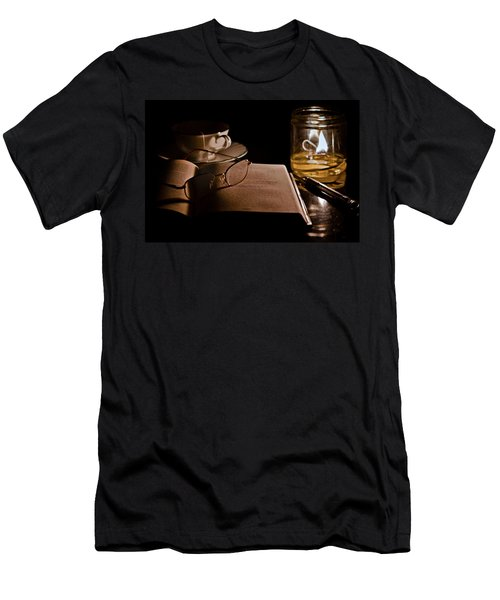 A Candlelight Scene Men's T-Shirt (Athletic Fit)