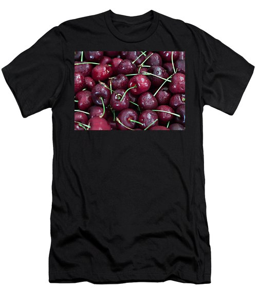 Men's T-Shirt (Slim Fit) featuring the photograph A Cherry Bunch by Sherry Hallemeier