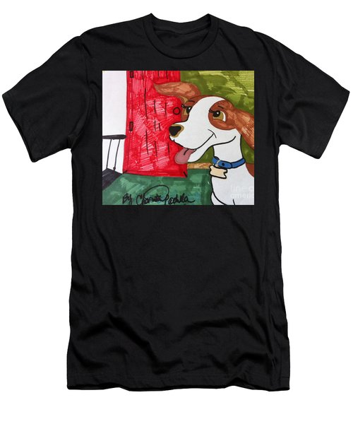 A Dog Is Heading Out The Door. Men's T-Shirt (Athletic Fit)