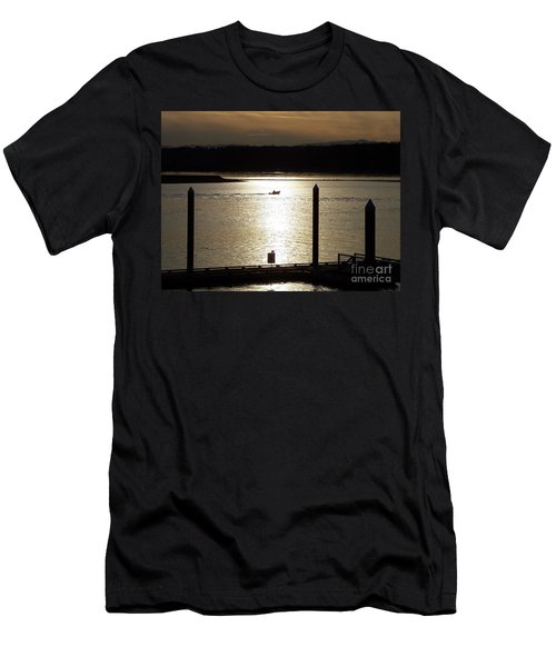 A Lone Boat At Sunset Men's T-Shirt (Athletic Fit)