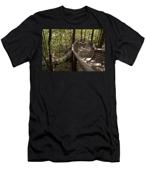 A Long Way Down Men's T-Shirt (Slim Fit) by Jeannette Hunt