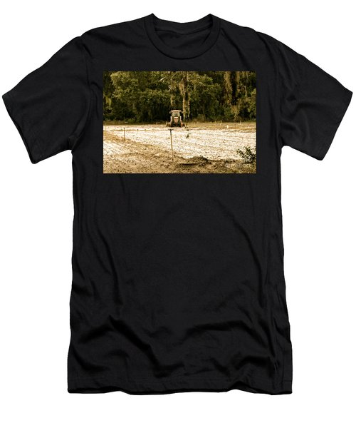 Men's T-Shirt (Slim Fit) featuring the photograph A Time To Plant by Carol  Bradley