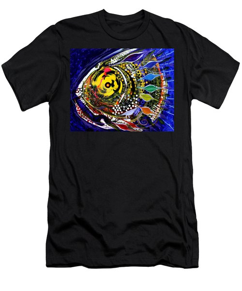 Abstract Busy Bee Fish Men's T-Shirt (Athletic Fit)