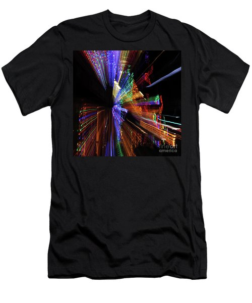 Abstract Lights Men's T-Shirt (Athletic Fit)