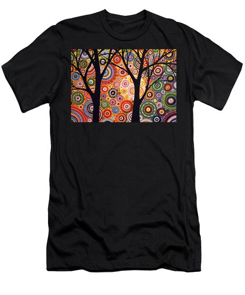 Abstract Modern Tree Landscape Distant Worlds By Amy Giacomelli Men's T-Shirt (Slim Fit) by Amy Giacomelli