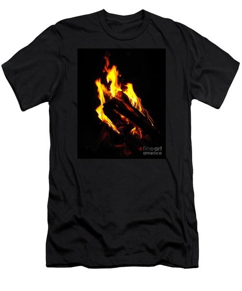 Abstract Phoenix Fire Men's T-Shirt (Slim Fit) by Rebecca Margraf