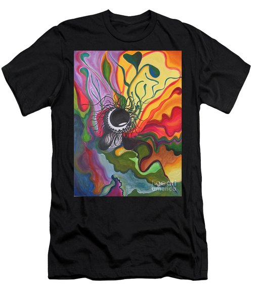 Abstract Underwater Anemone Men's T-Shirt (Athletic Fit)