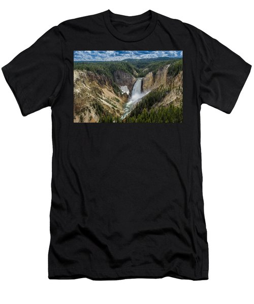 Afternoon At Lower Yellowstone Falls Men's T-Shirt (Athletic Fit)