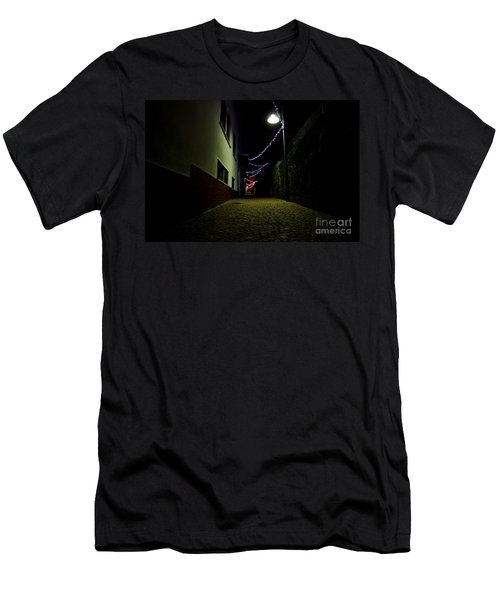 Alley With Lights Men's T-Shirt (Athletic Fit)