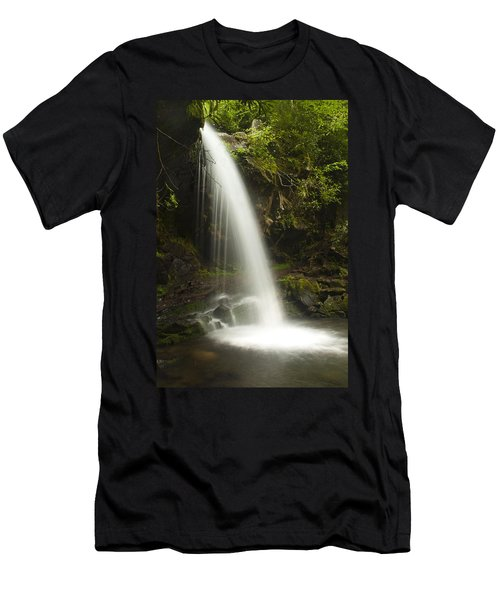 Alongside Grotto Falls Men's T-Shirt (Athletic Fit)