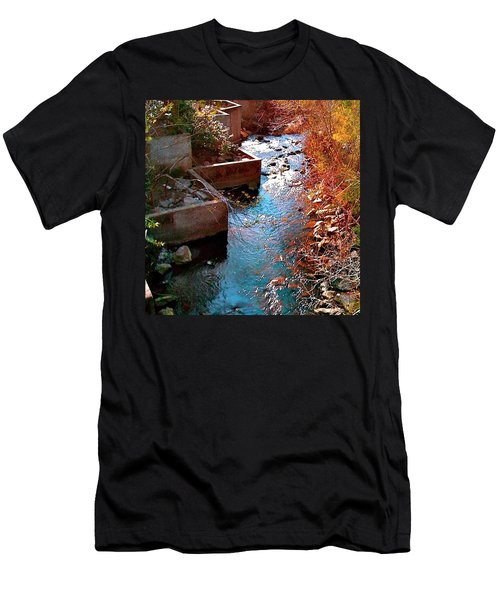 And A River Runs Through It - Red Hue Men's T-Shirt (Athletic Fit)