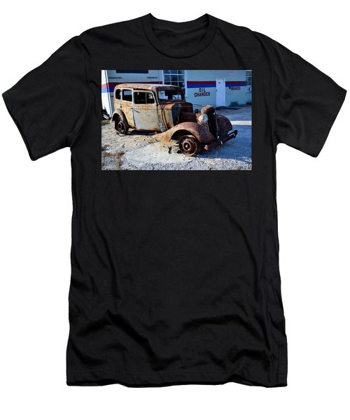 Men's T-Shirt (Slim Fit) featuring the photograph ...and Rotate The Tires by Larry Bishop