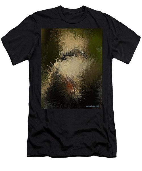 Men's T-Shirt (Slim Fit) featuring the painting Angry Monkey by George Pedro
