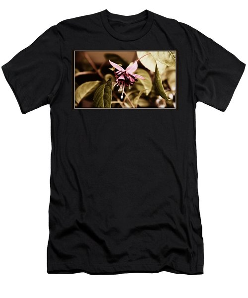 Men's T-Shirt (Slim Fit) featuring the photograph Antiqued Fuchsia by Jeanette C Landstrom