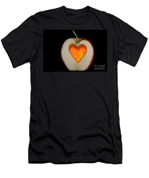 Apple With A Heart Men's T-Shirt (Athletic Fit)