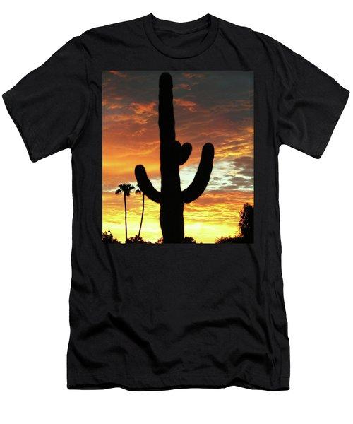 Men's T-Shirt (Slim Fit) featuring the photograph Arizona Sunrise 01 by Rand Swift