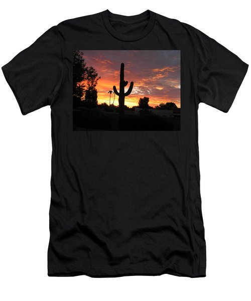 Men's T-Shirt (Slim Fit) featuring the photograph Arizona Sunrise 03 by Rand Swift