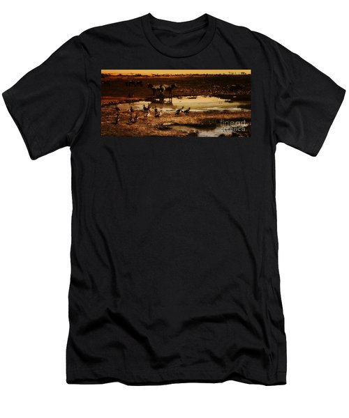 Men's T-Shirt (Slim Fit) featuring the photograph Around The Pond by Lydia Holly