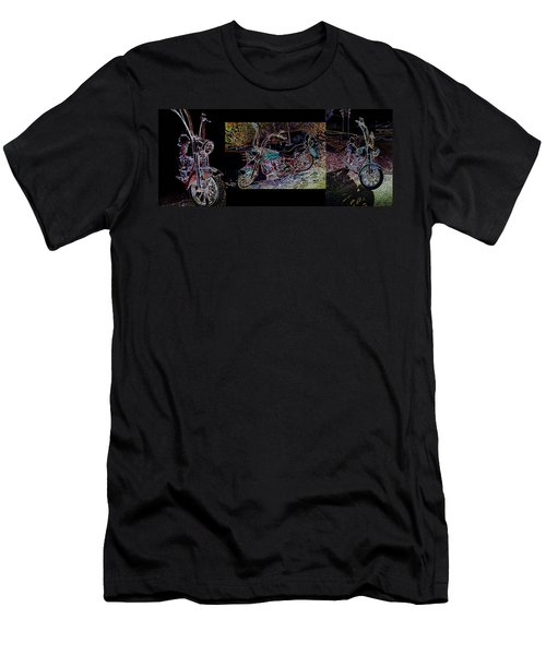 Artistic Harley Montage Men's T-Shirt (Athletic Fit)