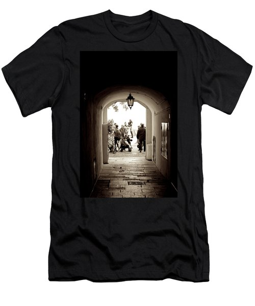 At The End Of The Tunnel Men's T-Shirt (Athletic Fit)