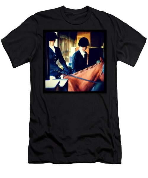 At The Gate, Arty #horses #dressage Men's T-Shirt (Athletic Fit)
