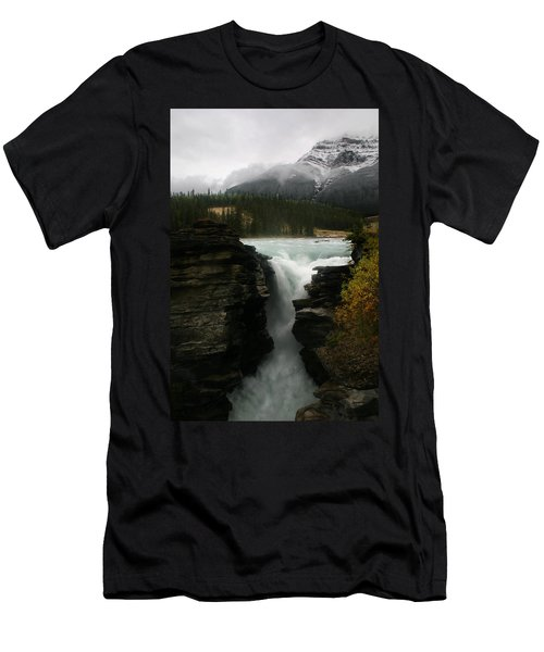 Athabasca Falls Jasper National Park Men's T-Shirt (Athletic Fit)