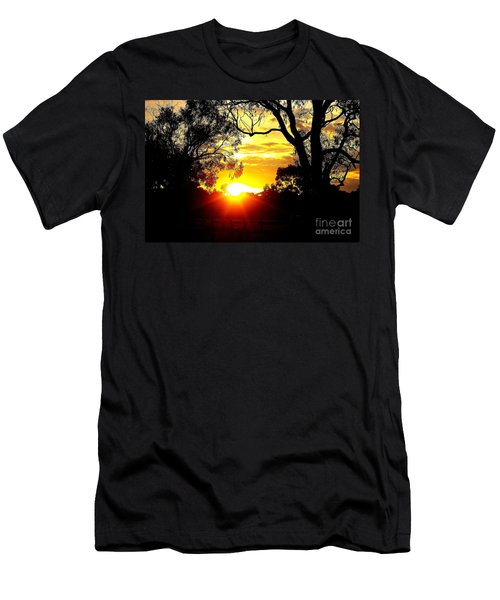 Men's T-Shirt (Slim Fit) featuring the photograph Aussie Sunset by Blair Stuart