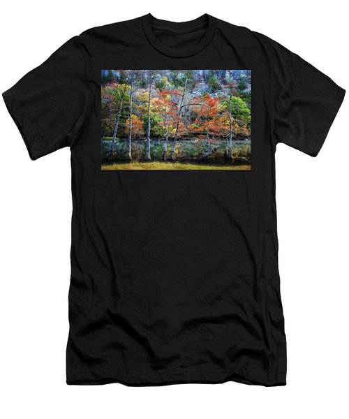 Men's T-Shirt (Slim Fit) featuring the photograph Autumn At Beaver's Bend by Tamyra Ayles