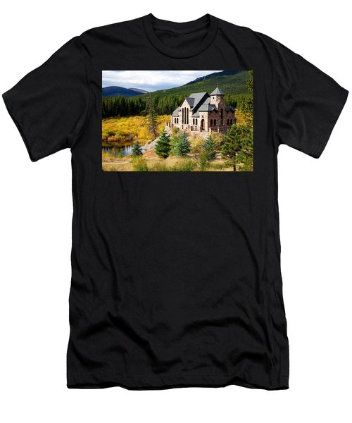 Men's T-Shirt (Slim Fit) featuring the photograph Autumn At St. Malo  by Jim Garrison