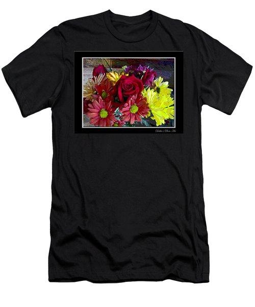 Men's T-Shirt (Slim Fit) featuring the digital art Autumn Boquet by Debbie Portwood