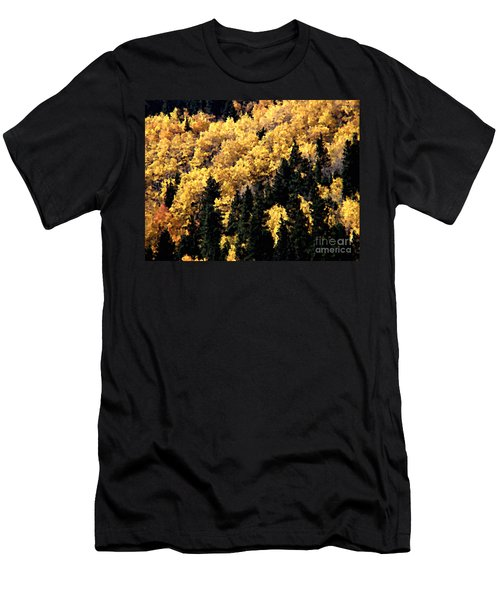 Autumn In Colorado Painting Men's T-Shirt (Athletic Fit)