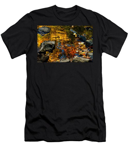 Men's T-Shirt (Slim Fit) featuring the photograph Autumn Reflections by Cheryl Baxter