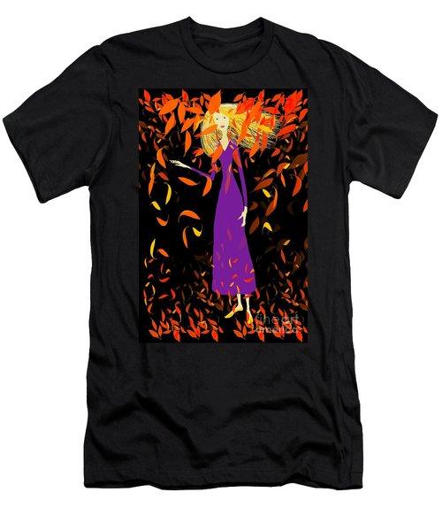 Men's T-Shirt (Slim Fit) featuring the digital art Autumn Spirit by Barbara Moignard