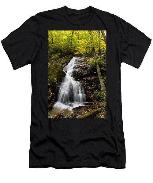 Autumn Waterfall Men's T-Shirt (Athletic Fit)
