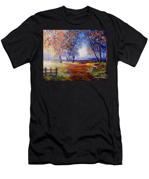 Autumn Wheelbarrow Men's T-Shirt (Athletic Fit)