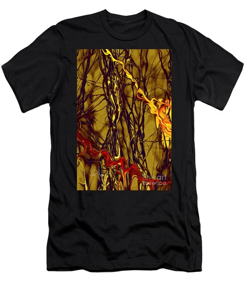 Shapes Of Fire Men's T-Shirt (Slim Fit) by Leo Symon