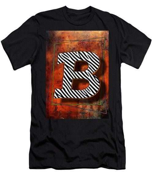 B Men's T-Shirt (Athletic Fit)