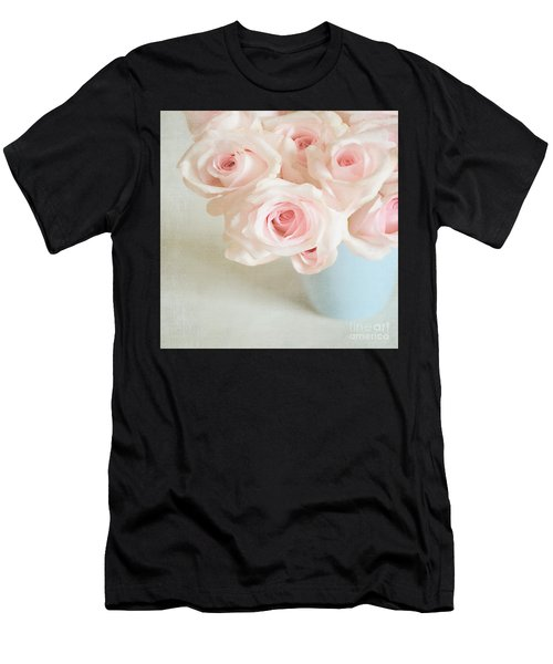 Baby Pink Roses Men's T-Shirt (Athletic Fit)
