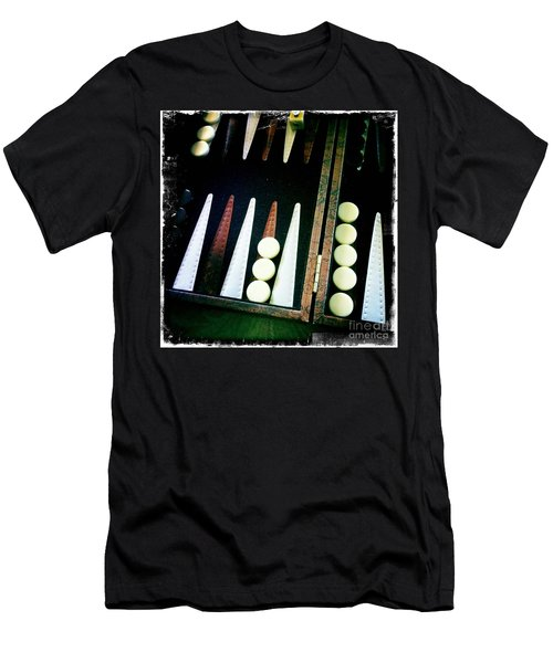 Men's T-Shirt (Slim Fit) featuring the photograph Backgammon Anyone by Nina Prommer