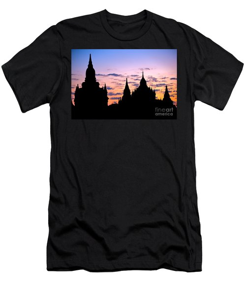 Men's T-Shirt (Slim Fit) featuring the photograph Bagan by Luciano Mortula